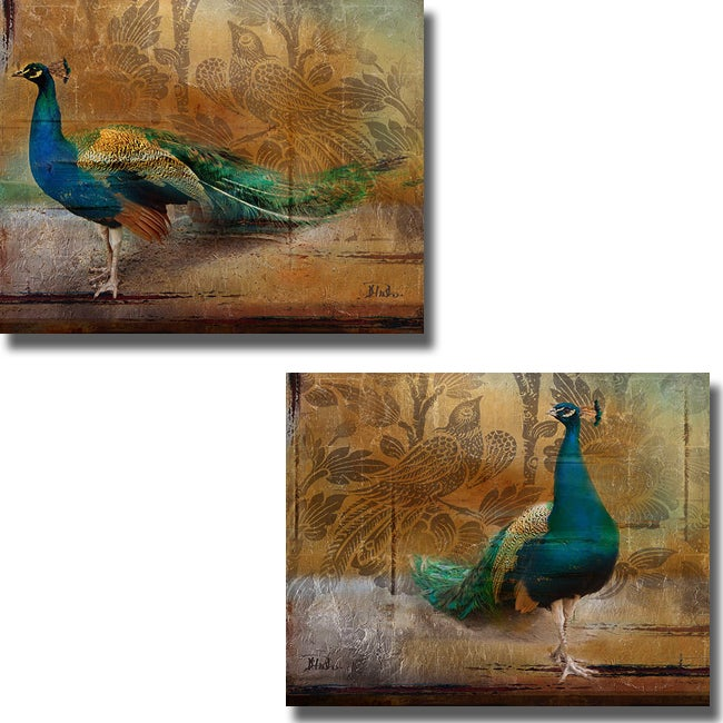 Patricia Pinto 'Feathered Dreams I and II' 2-piece Canvas Art Set