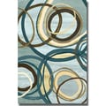Jeni Lee 'Tuesday Blue II' Canvas Art