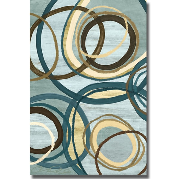 Jeni Lee 'Tuesday Blue II' Canvas Art