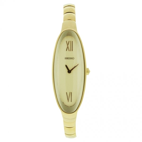 Seiko Men's SUJD84 Classic Gold Tone Watch