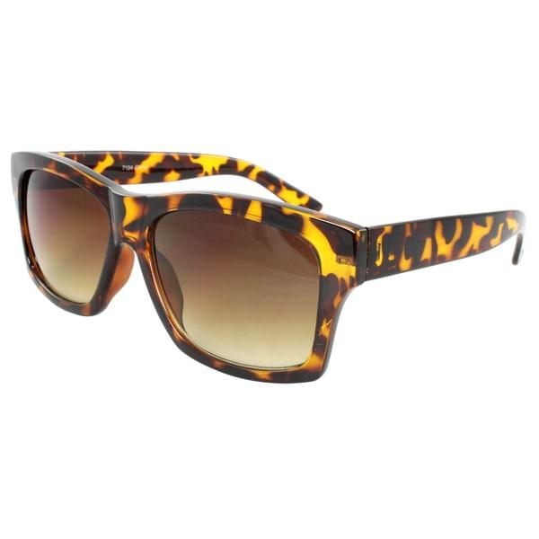 Unisex Brown Leopard Sunglasses