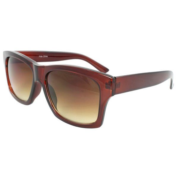 Unisex Burgundy Square Sunglasses