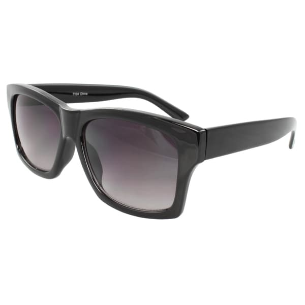 Unisex Black Square Sunglasses