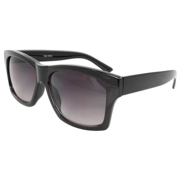 Unisex Black Square Sunglasses