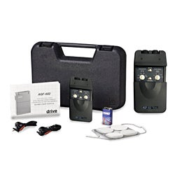 Portable Dual-channel TENS Unit with Timer and Electrodes