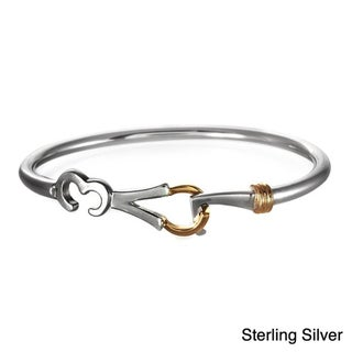 Beverly Madison Gold over Sterling Silver 'LOVE' Bangle Bracelet