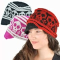 Happy Skull Newsboy Hat (Nepal)