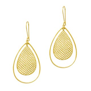 Beverly Madison Goldplated Sterling Silver Teardrop Mesh Earrings