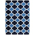 Alliyah Handmade Azure Blue New Zealand Blend Wool Rug (5' x 8')