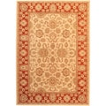 "Lotus Garden Champagne Cream-Colored Area Rug (5'5"" x 7'7"")"