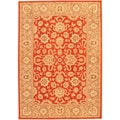 "Lotus Garden BTOR Red Area Rug (5'5"" x 7'7"")"