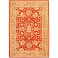 "Large Lotus Garden BTOR Red Rug (5'5"" x 7'7"")"