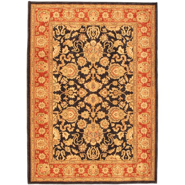 Lotus Garden Midblue Navy Rug (4' x 5'8)