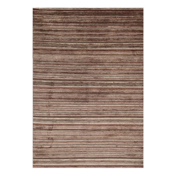 Indo-tibetan Abstract Deep Rose Wool Rug (5'6 x 8'6)