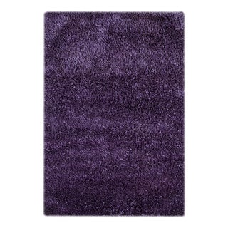 Hand-woven Solid Montana Grape Rug (5'6 x 7'6)