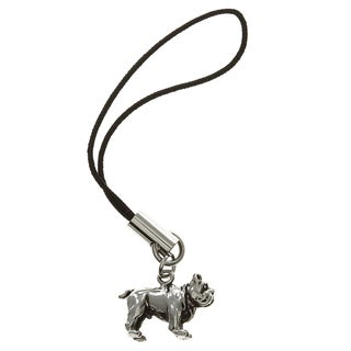 Stainless Steel 3-D Bulldog Dangling Cell Phone Charm