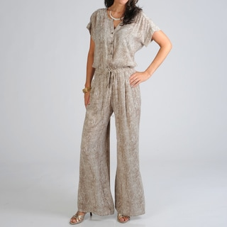 Sharagano Women's Snakeskin Jumpsuit