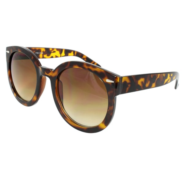 Women's Brown Leopard Oval Sunglasses
