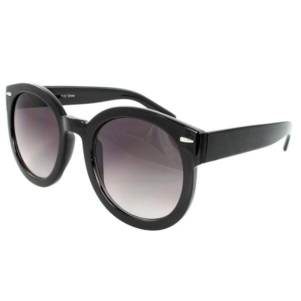 Women's Black Oval Sunglasses