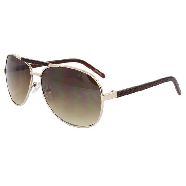 Unisex Gold Aviator Sunglasses