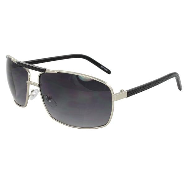 Men's Silver Rectangle Sunglasses