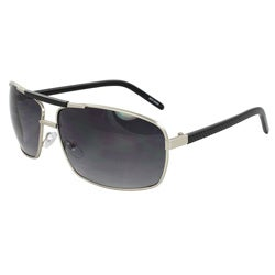 Men's Silver Rectangle Sunglasses