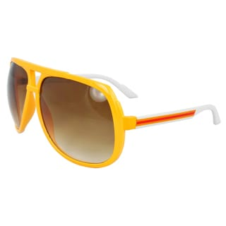 Unisex Orange Shield Sunglasses
