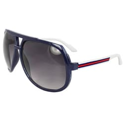 Unisex Blue/ Red Shield Sunglasses