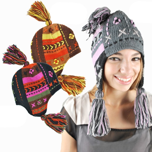 Tassle Knit Hat (Nepal)