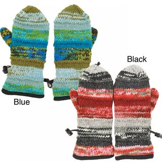 Knitted Tie-Dye Print Mittens (Nepal)
