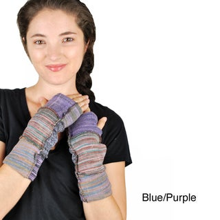 Cotton Cut/Patch Armwarmer Gloves (Nepal)