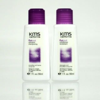 KMS California Flat Out Shampoo and Conditioner 2-ounce Travel Size Set