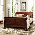 Canterbury Cherry Finish Queen-size Sleigh Bed