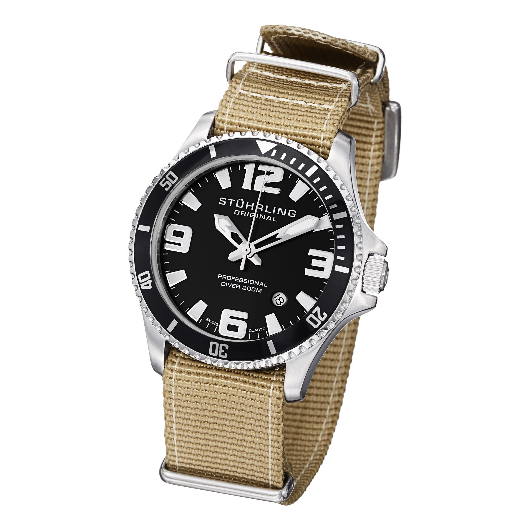 Stuhrling Original Men's Regatta Champion II Canvas Strap Watch