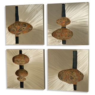 Beneath The Surface 4-piece Metal Wall Art