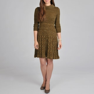 Lennie for Nina Leonard Women's Cowl Pleated Dress