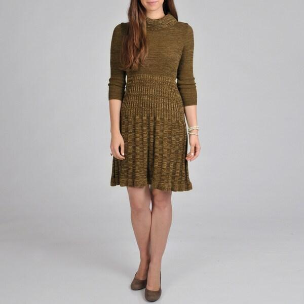 Lennie for Nina Leonard Women's Cowl Pleated Dress