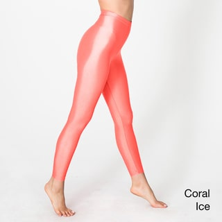 American Apparel Women's Shiny Nylon Tricot Leggings