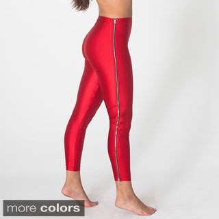 American Apparel Women's Nylon Tricot High-Waist Zipper Legging