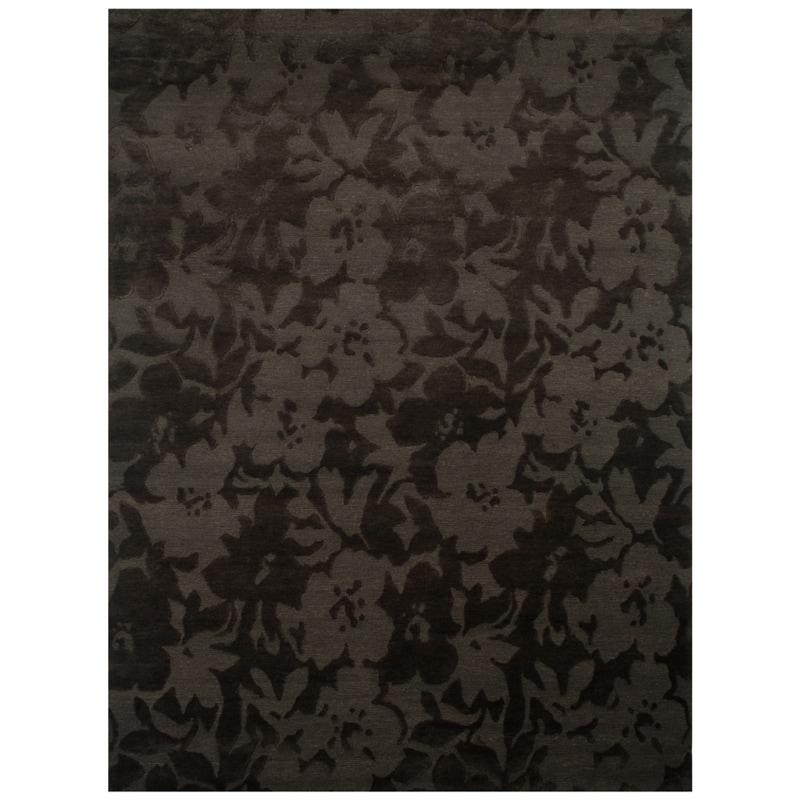 Indo-tibetan Modern Brown Wool Rug (5'6 x 8'6)