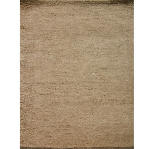 Hand-woven Solid Fawn Wool Rug (2' x 3')