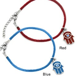 Stainless Steel Hamsa with Evil Eye Charm Bracelet