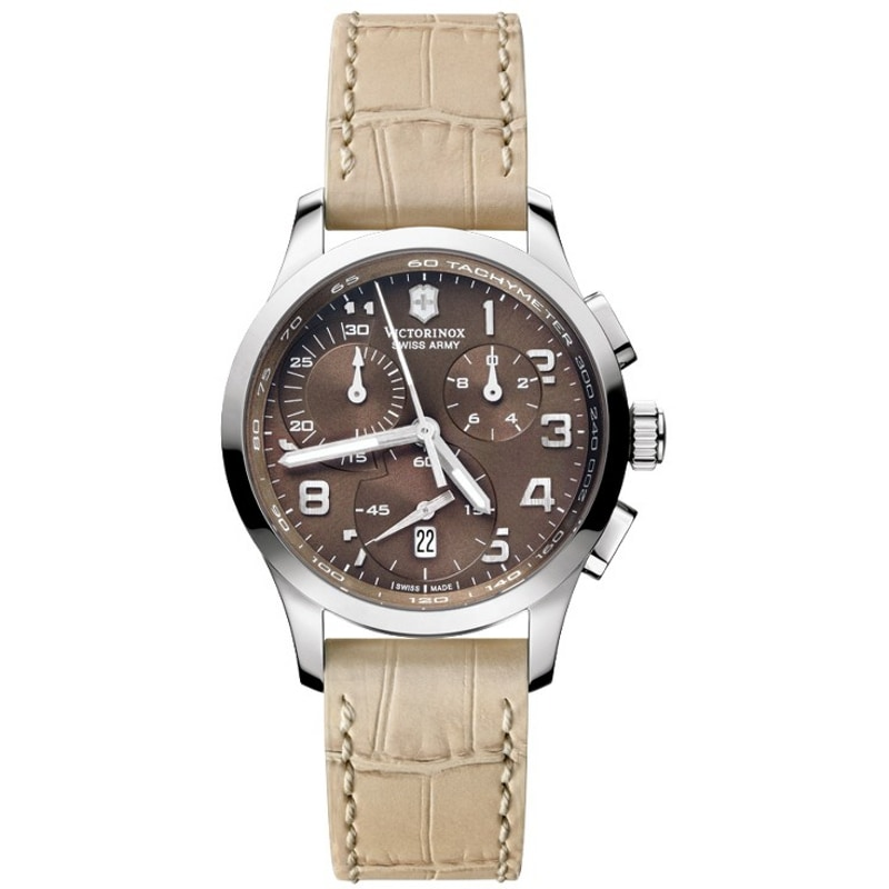 Swiss Army Women's Alliance Chrono Brown Dial Watch