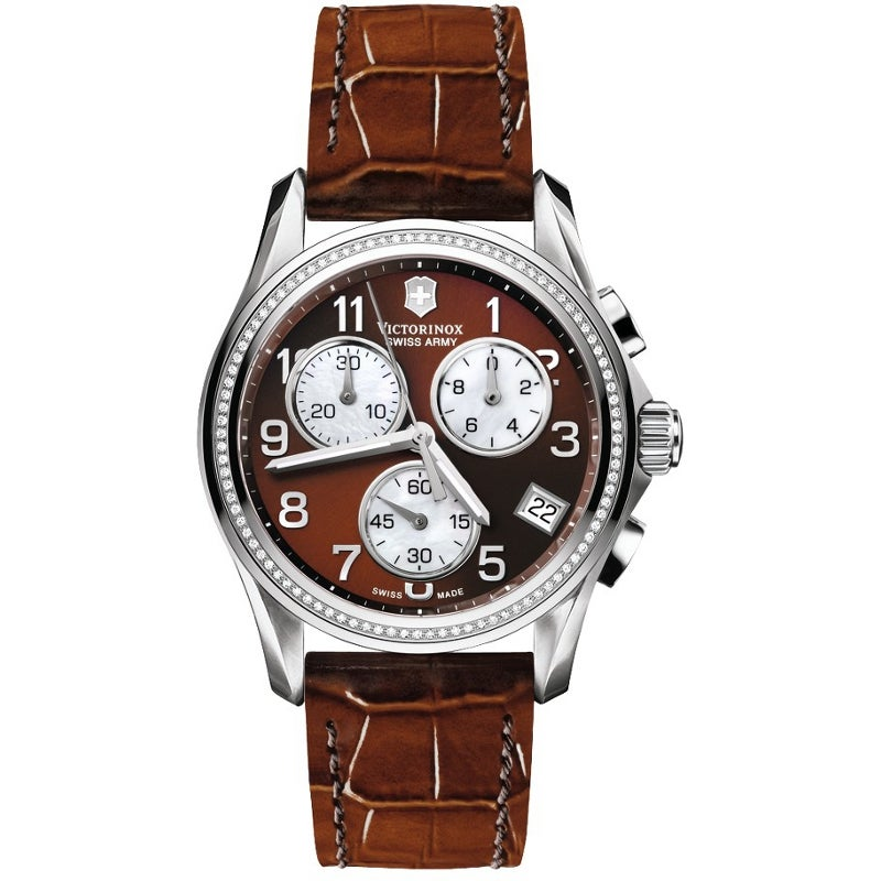 Swiss Army Women's Classic Diamond Caramel Dial Watch