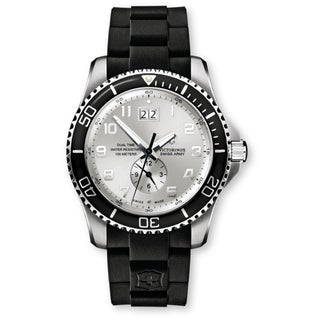 Victorinox Swiss Army Men's Maverick GS Dual Time Silver Dial Watch