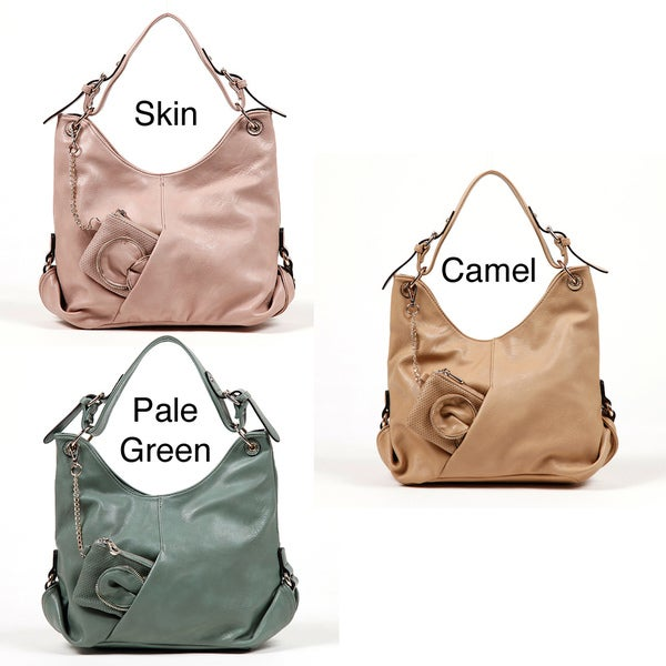 Nicole Lee Gemma Buckle Shoulder Bag with Detachable Coin Purse
