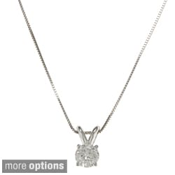 Auriya 18k Gold 1/2 to 1 1/4ct TDW Certified Clarity-enhanced Diamond Necklace (H-I, SI1-SI2)