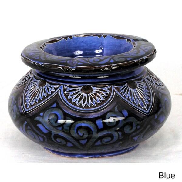Engraved Ceramic Large Ashtray (Morocco)