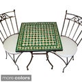 Iron Mosaic Square Table and Chair Set (Morocco)