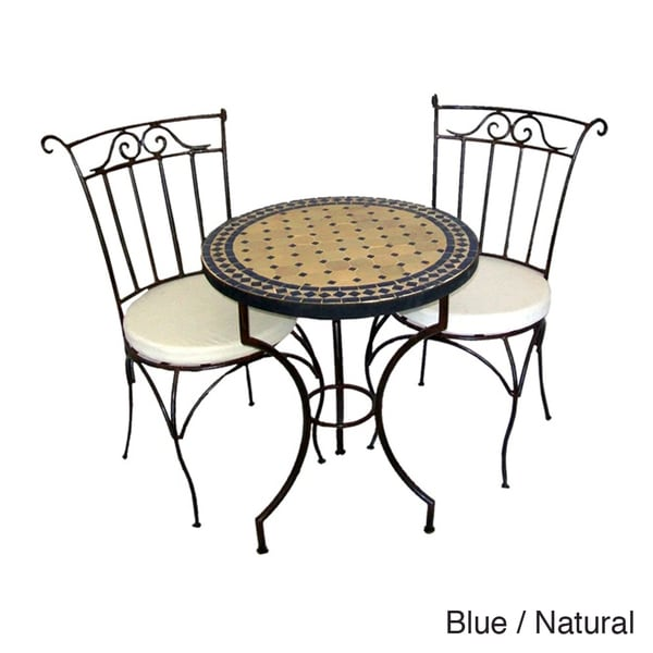 Iron Mosaic Table and Chairs Set Morocco